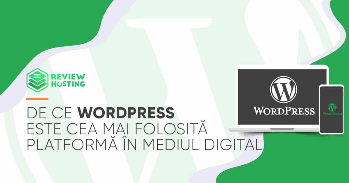 De ce Wordpress este cea mai folosită platformă în mediul digital